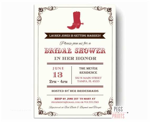 Country Bridal Shower Invitations Country Bridal Shower Invitation Western Bridal Shower