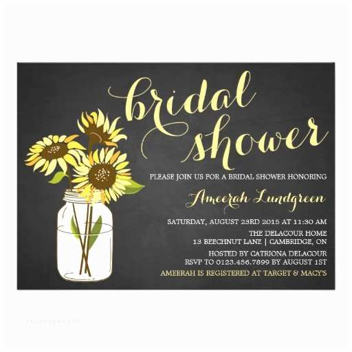 Country Bridal Shower Invitations Country Chic Sunflowers Bridal Shower Invitation