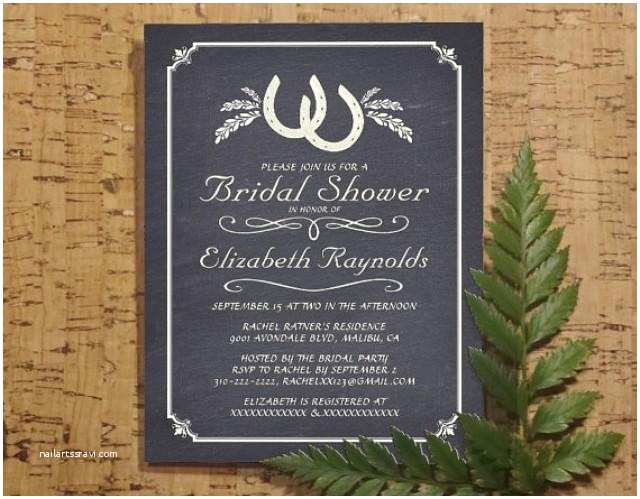 Country Bridal Shower Invitations Country Horseshoe Bridal Invitations Bridal Shower