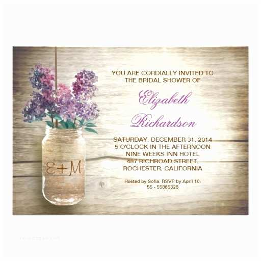 Country Bridal Shower Invitations Country Rustic Mason Jar Bridal Shower Invitations