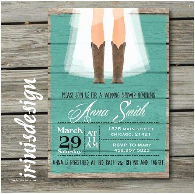Country Bridal Shower Invitations Rustic Bridal Shower Hoedown Wedding Invitation