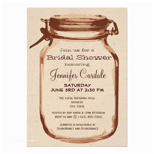 "Country Bridal Shower Invitations Rustic Country Mason Jar Bridal Shower Invitations 4 5"" X"