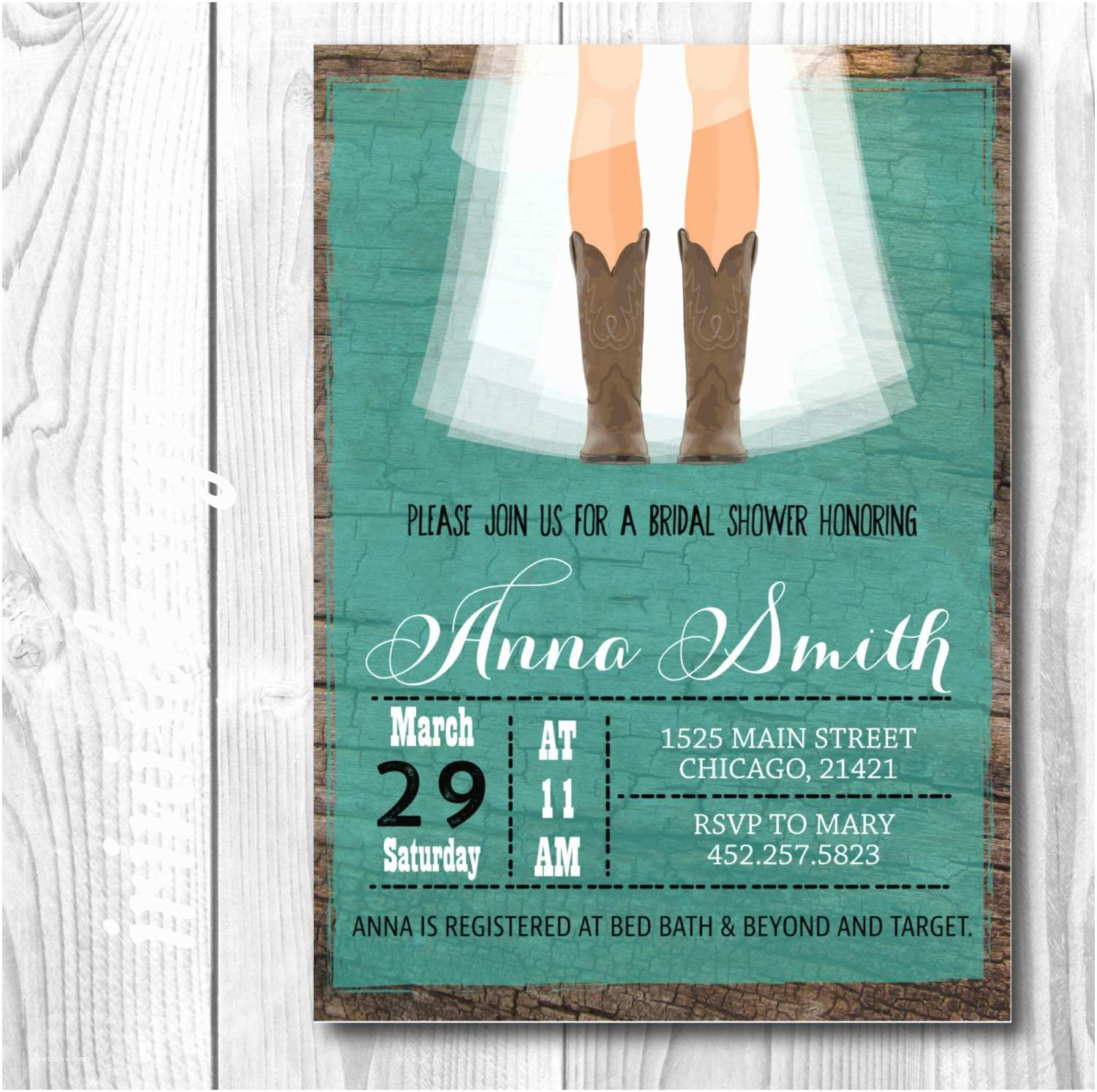 Country Bridal Shower Invitations Rustic Cowgirl Bridal Invitation Country Bridal Shower