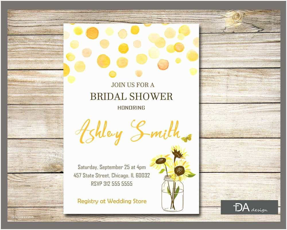 Country Bridal Shower Invitations Sunflower Bridal Shower Invitation Country Bridal by Tdadesign