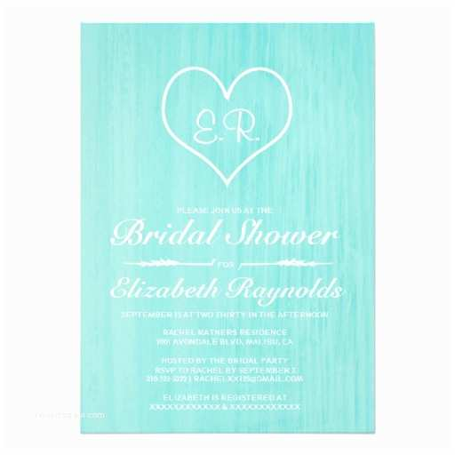 Country Bridal Shower Invitations Teal Country Bridal Shower Invitations