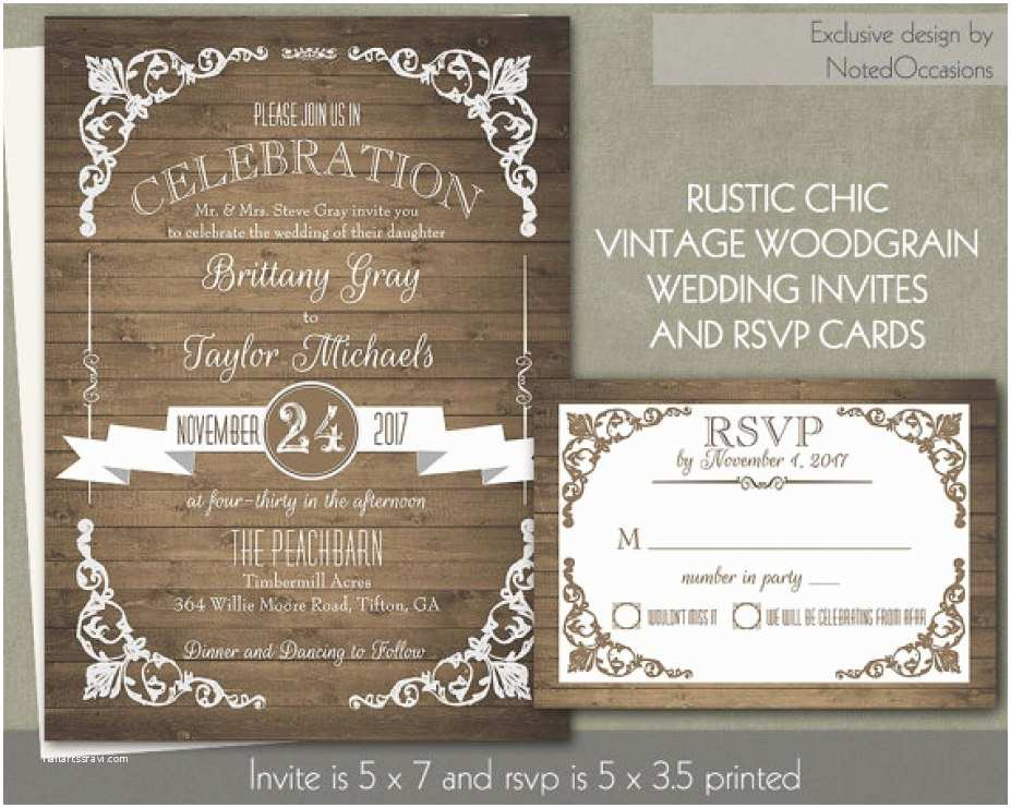 Country Chic Wedding Invitations 32 Concept Rustic Chic Wedding Invitations Trendy – the