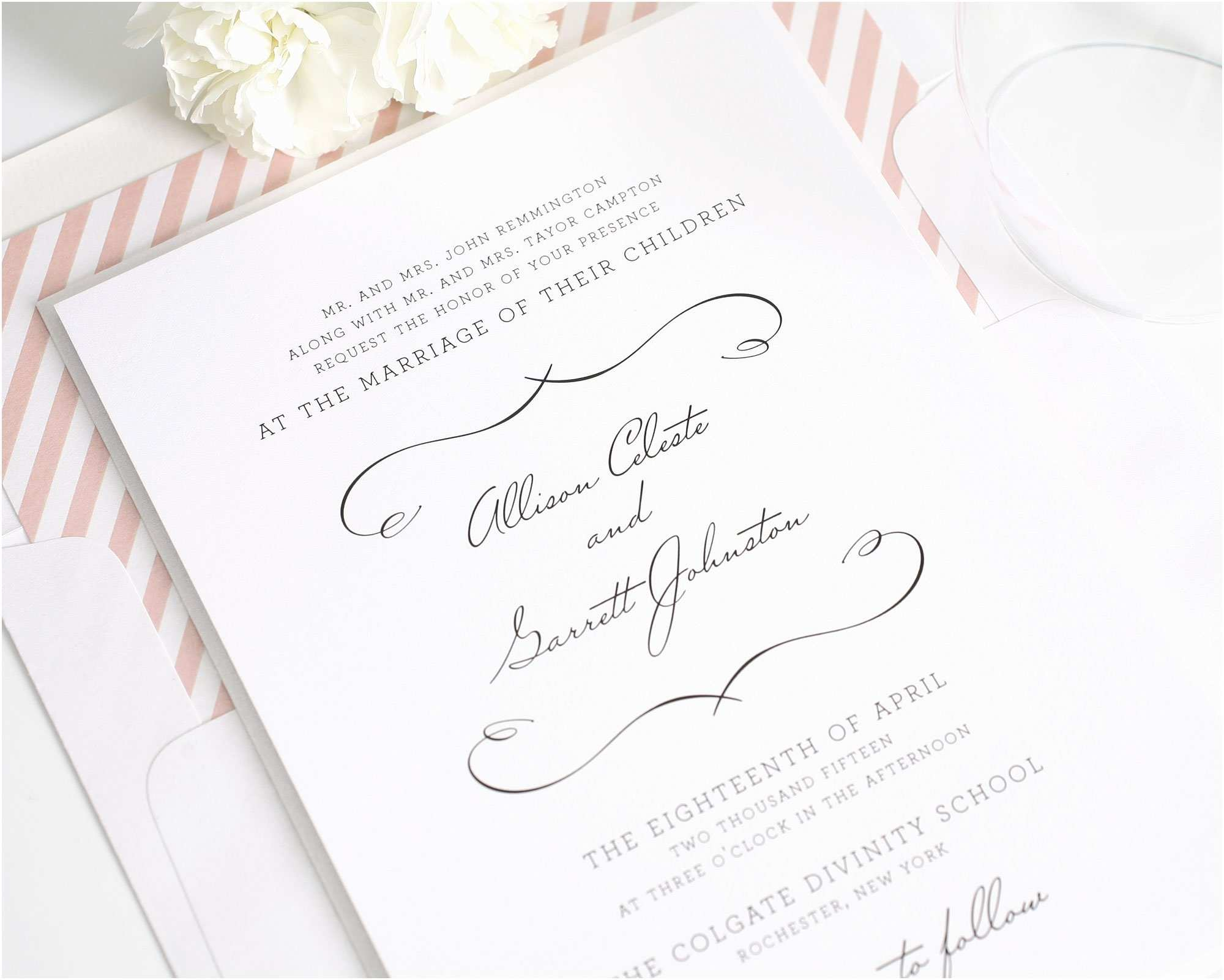 Country Chic Wedding Invitations Chic Country Wedding Invitations In Blush – Wedding
