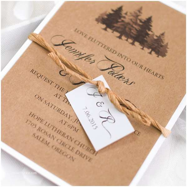 Country Chic Wedding Invitations Country Chic Tree Layered Wedding Invitations Ewls049 as