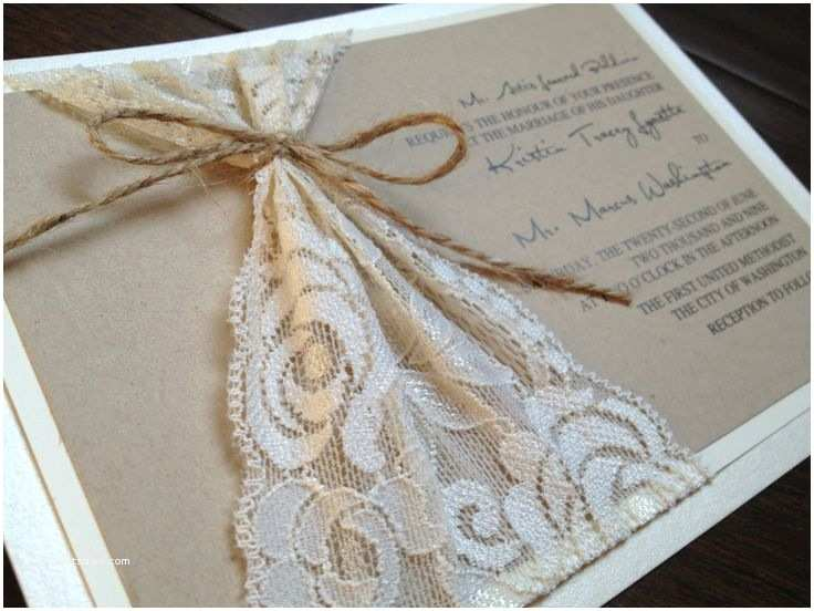 Country Chic Wedding Invitations Diy Rustic Country themed Lace Wedding Invitations Diy