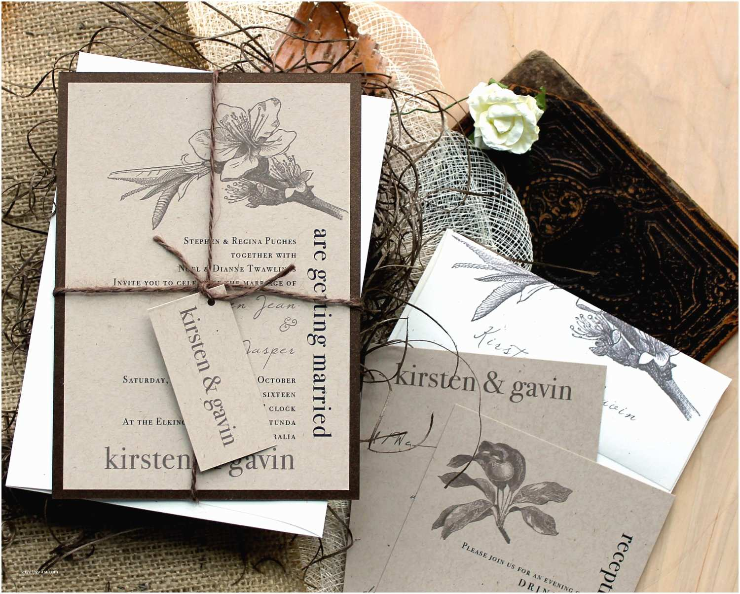 Country Chic Wedding Invitations Rustic & Chic Wedding Invitations Farm Wedding Country