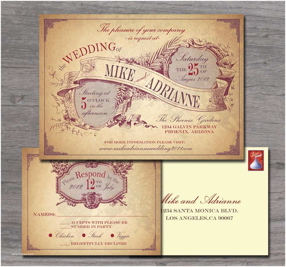 Country Chic Wedding Invitations Rustic Country Wedding Invitation Sample Set by