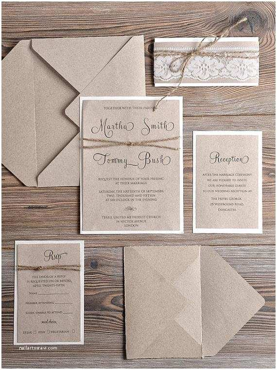 Country Chic Wedding Invitations Rustic Wedding Invitations 20 Country Style Lace