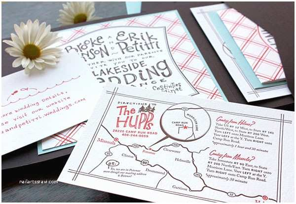 Country Chic Wedding Invitations the Paper Mint Press