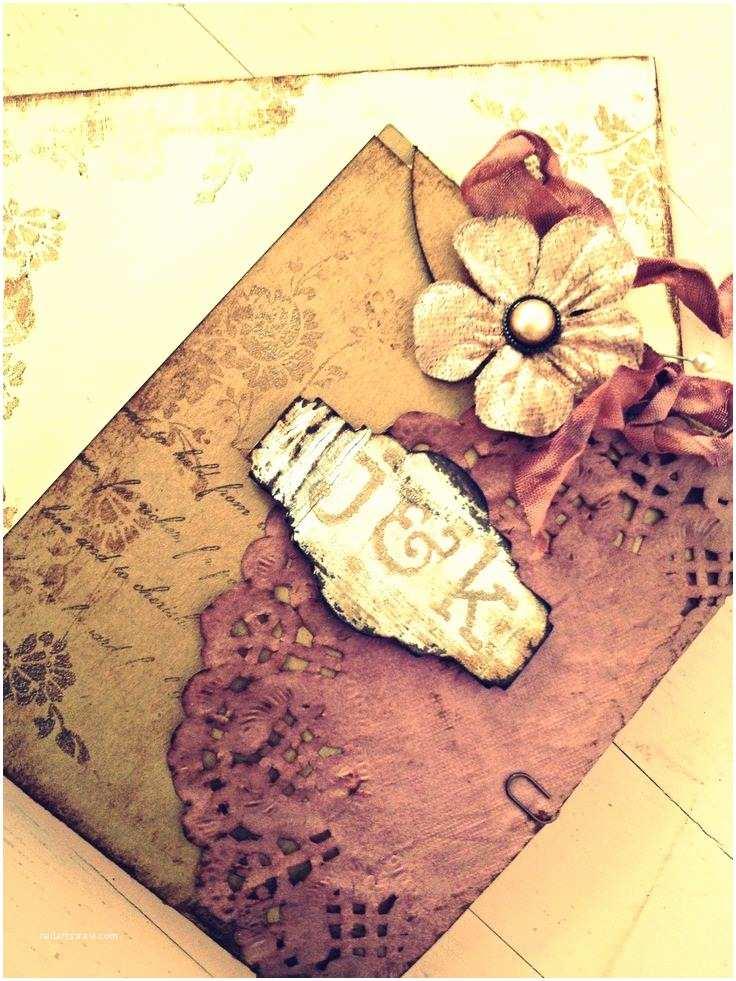 Country Chic Wedding Invitations Vintage Wedding Invitation Handmade Hand Stamped Shabby