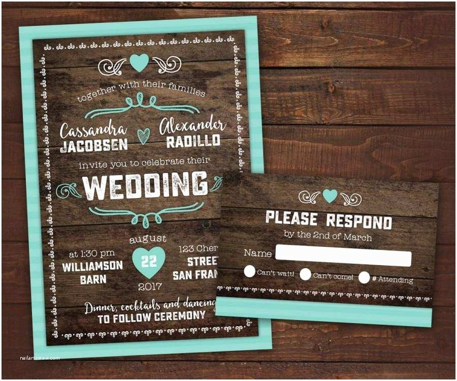 Country Rustic Wedding Invitations 10 Country Rustic Wedding Invitations with Rsvp Barn