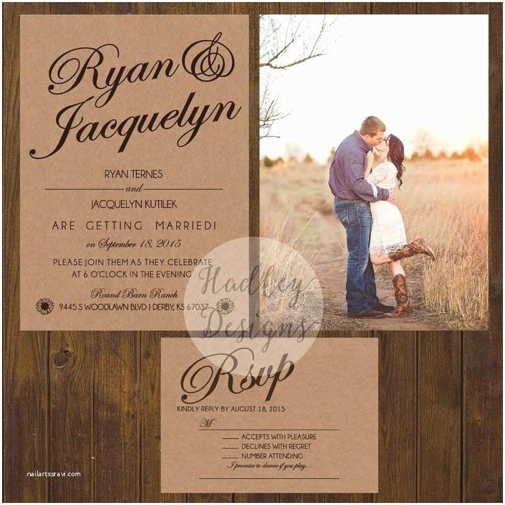Country Rustic Wedding Invitations 17 Best Ideas About Country Wedding Invitations On