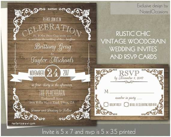 Country Rustic Wedding Invitations Impressive Country Chic Wedding Invitations