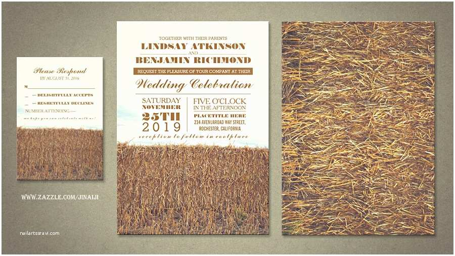 Country Rustic Wedding Invitations Read More – Rustic Country Wedding Invitations with Straw