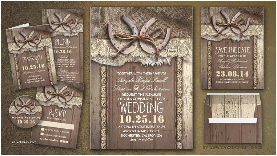 Country Rustic Wedding Invitations Read More – Rustic Country Wedding Invites with Horseshoe