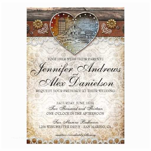 Country Rustic Wedding Invitations Rustic Barn Country Wedding Invitation 13 Cm X 18 Cm