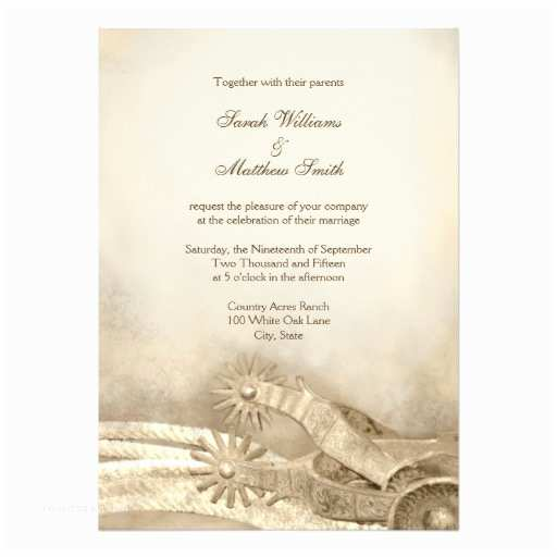 Country Rustic Wedding Invitations Rustic Country Western Wedding Invitations