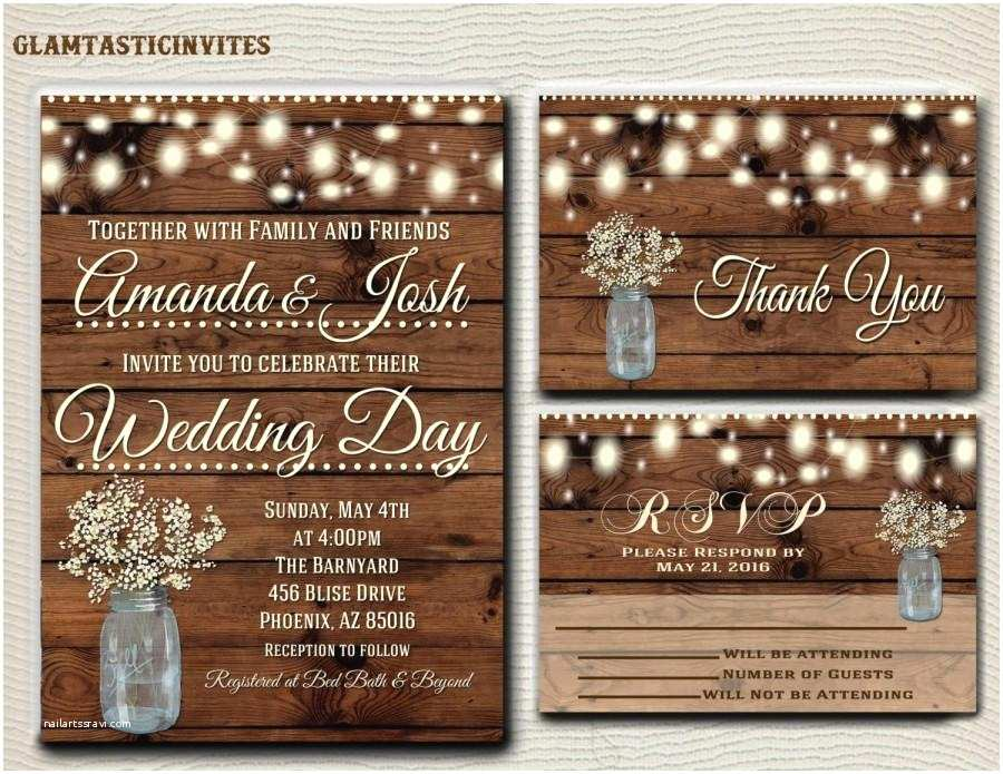 Country Rustic Wedding Invitations Rustic Wedding Invitation Printable Country Wedding