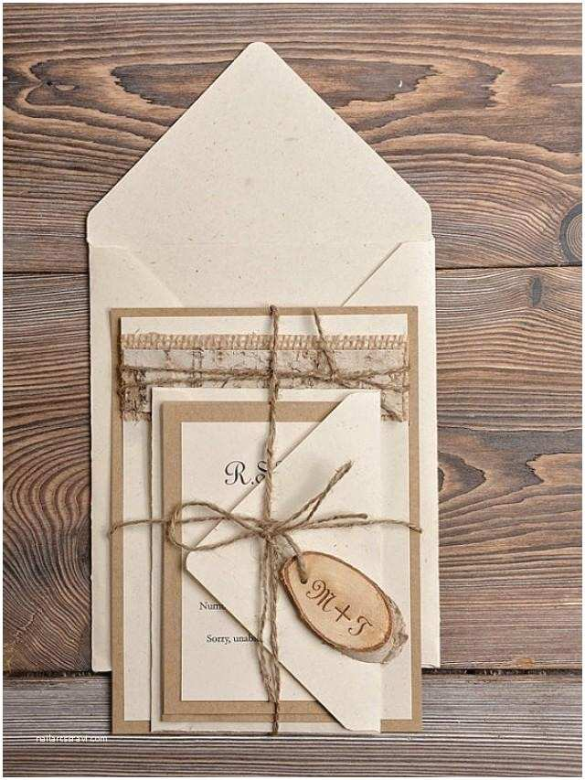 Country Style Wedding Invitations Custom Listing 20 Lace Eco Recycling Paper Wedding