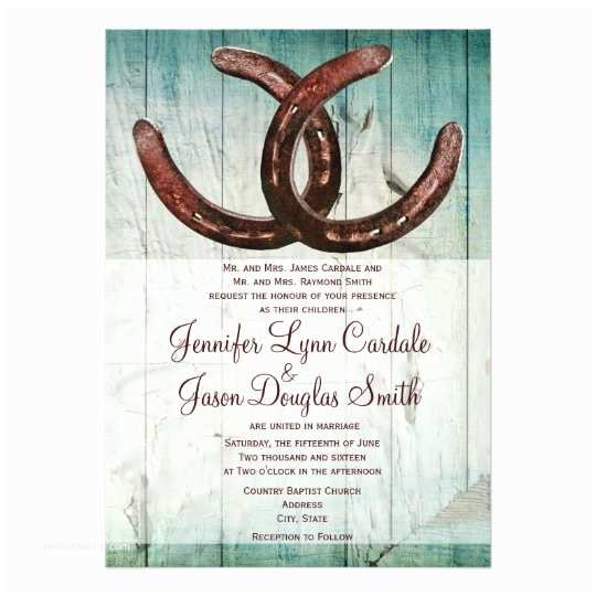 Country Style Wedding Invitations Rustic Horseshoes Country Style Wedding Invitation