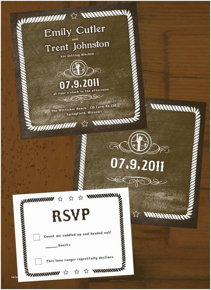 Country themed Wedding Invitations 1000 Images About Cowboy Wedding Invitations On Pinterest