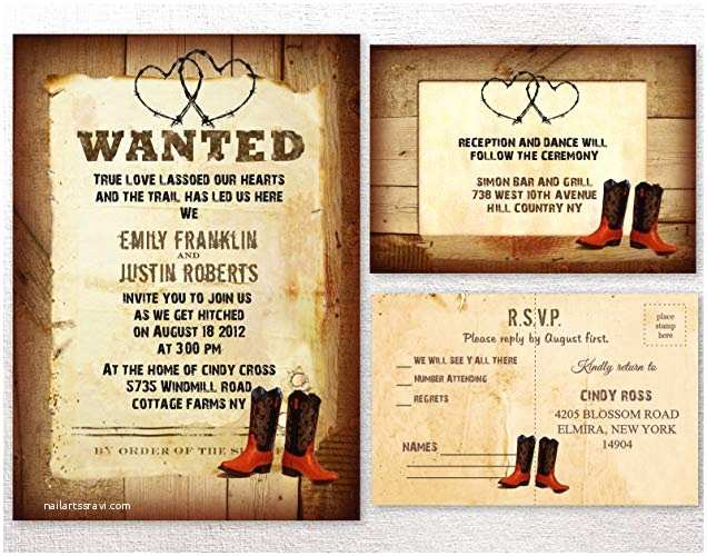 Country themed Wedding Invitations Country Style Wedding Invitations Country Rustic Style