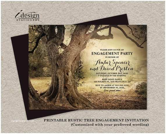 Country themed Wedding Invitations Items Similar to Rustic Woodland Engagement Party
