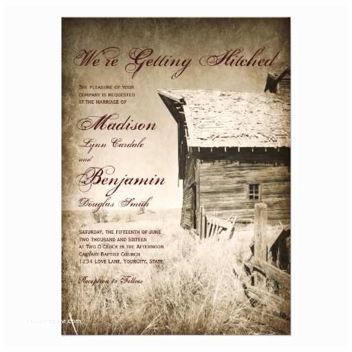 Country themed Wedding Invitations Rustic Old Barn Country Wedding Invitations