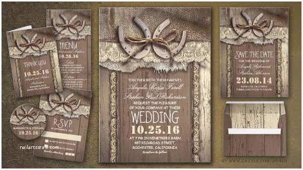 Country themed Wedding Invitations Rustic Wedding