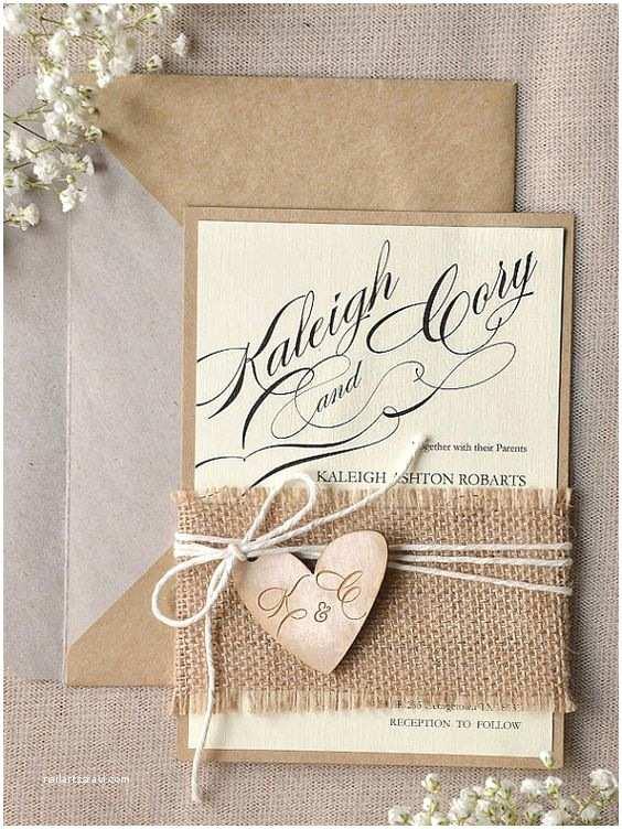 Country Wedding Invitations 22 Cute Burlap Wedding Invitation Ideas Weddingomania