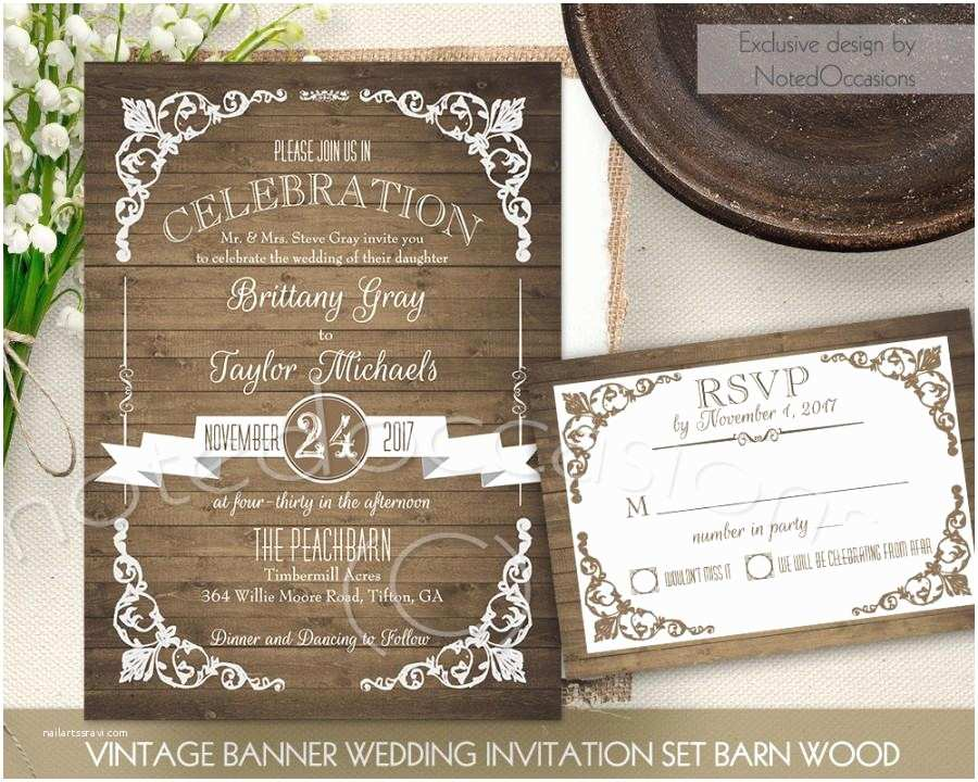 Country Wedding Invitations Rustic Wedding Invitation Printable Set Country Wedding