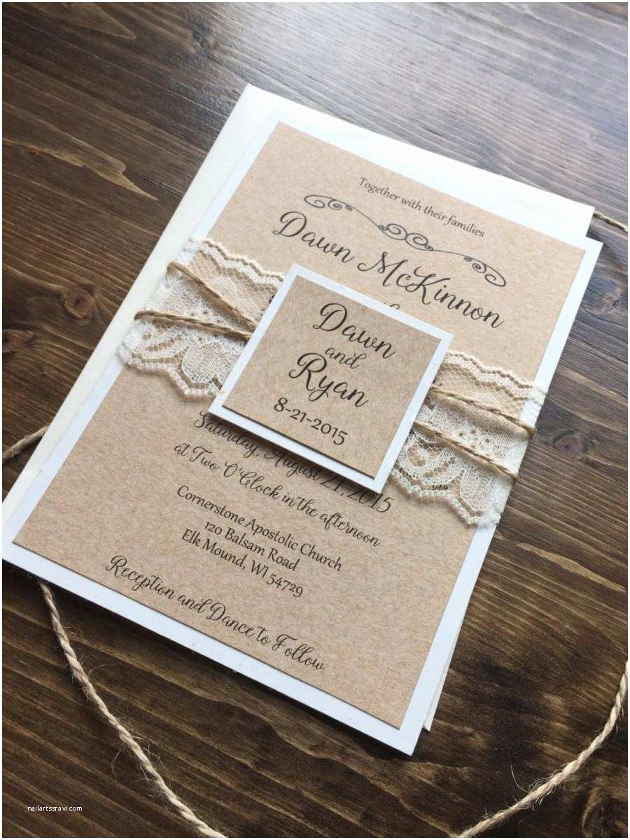 Country Wedding Invitations Rustic Wedding Invitation Vintage Wedding Invitation