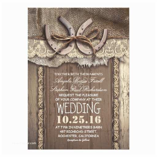 """Country Wedding Invitations Vintage Country Wedding Invitations 5"""" X 7"""" Invitation"""