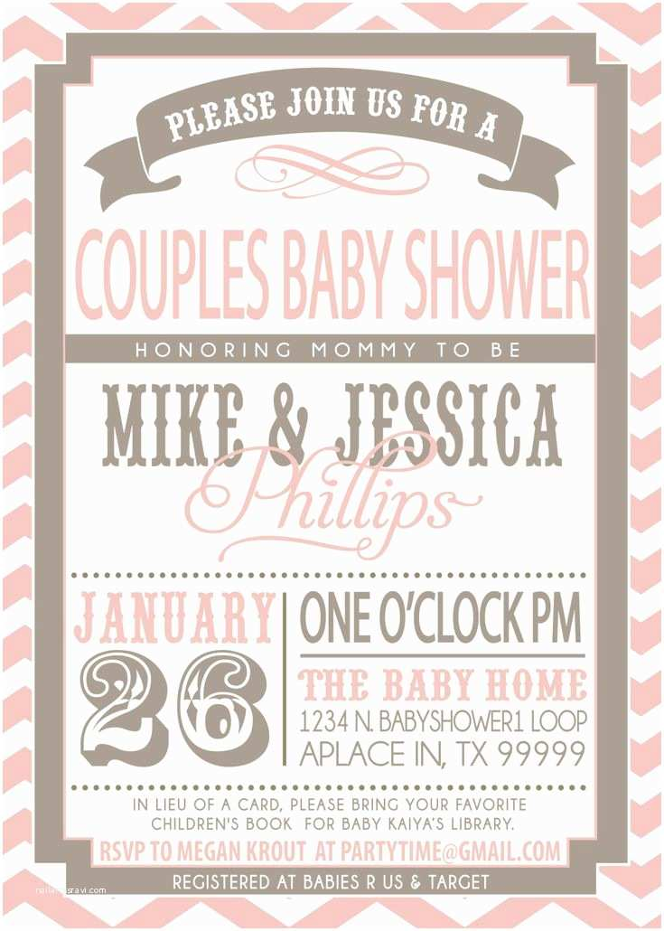 Couple Baby Shower Invitations 17 Best Ideas About Couples Baby Showers On Pinterest