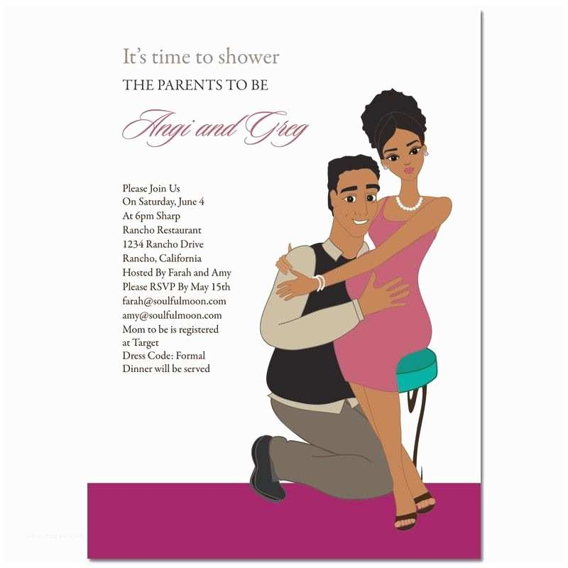Couple Baby Shower Invitations African American Baby Shower Invitations Baby Hugs