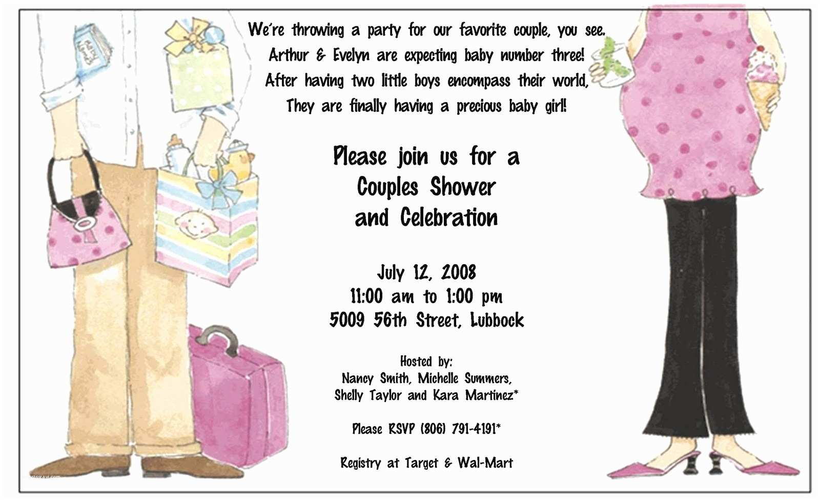Couple Baby Shower Invitations Baby Shower Invitations Couples Baby Shower Invitation