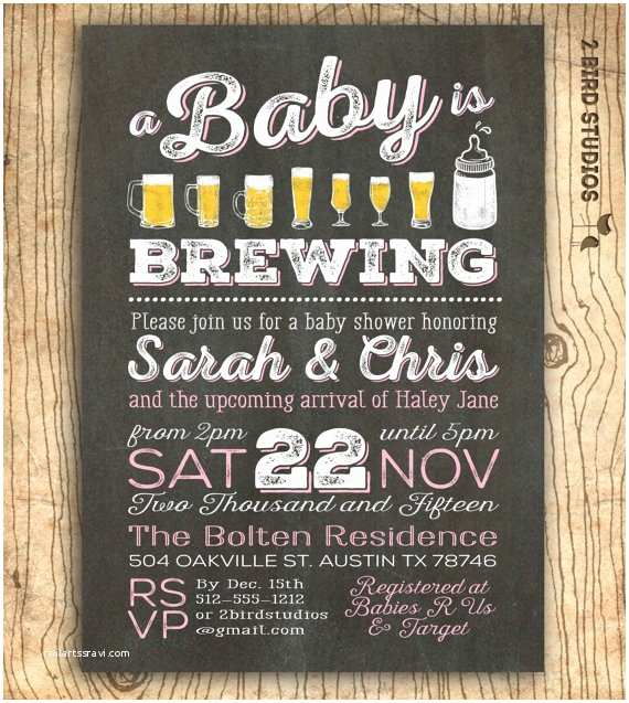 Couple Baby Shower Invitations Coed Baby Shower Invitation Beer Baby Shower Invitation