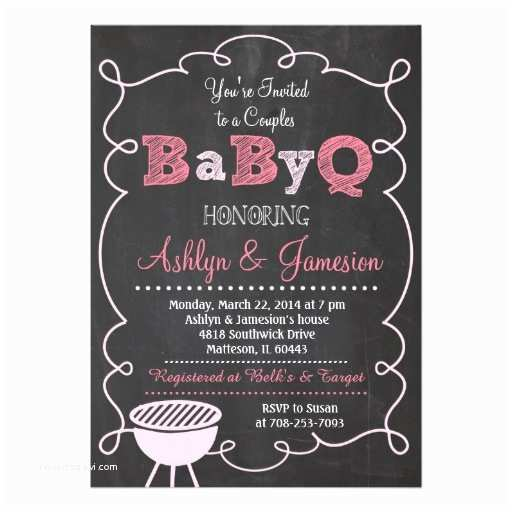 Couple Baby Shower Invitations Couples Babyq Bbq Baby Shower Invitation
