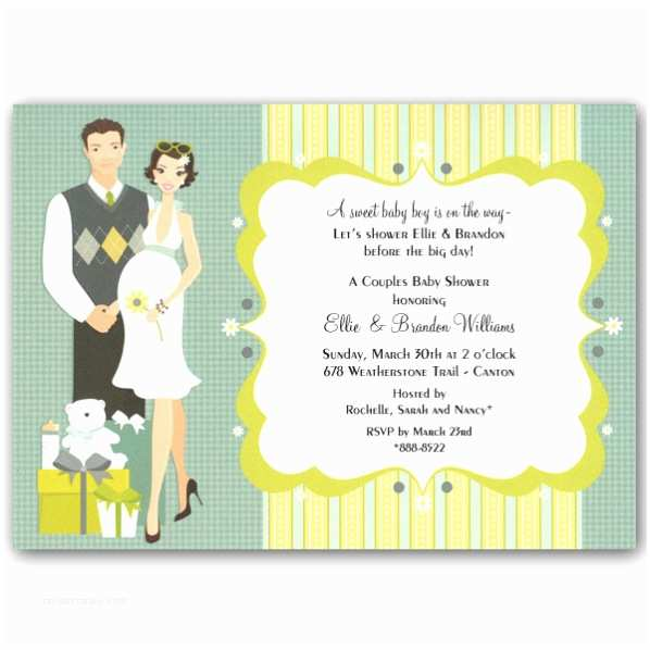 Couple Baby Shower Invitations Happy Couple Blue Baby Shower Invitations Clearance