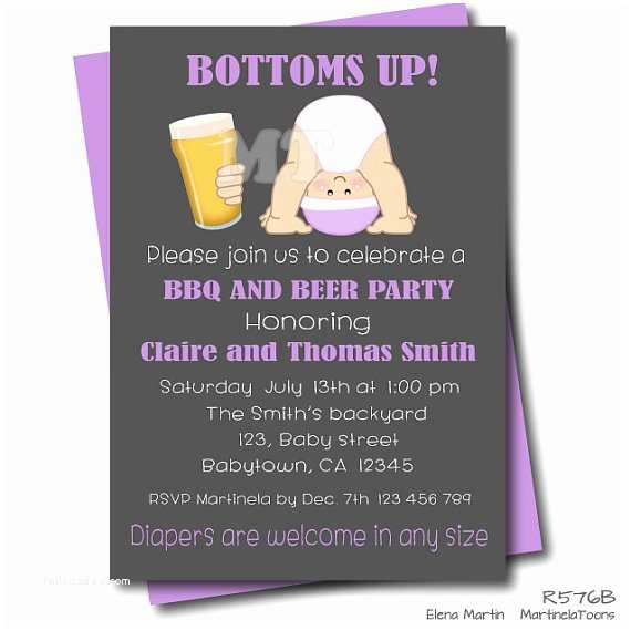 Couple Baby Shower Invitations Items Similar to Beer and Babies Dad Baby Shower