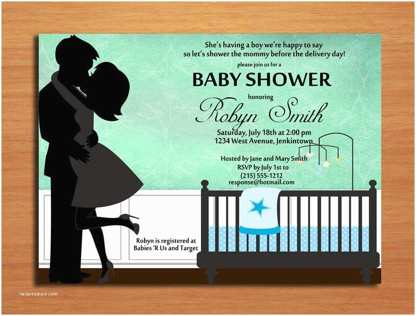 Couple Baby Shower Invitations Kissing Couple Baby Boy Baby Shower Invitation Cards