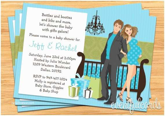 Couple Baby Shower Invitations Modern Couple Baby Shower Invitation