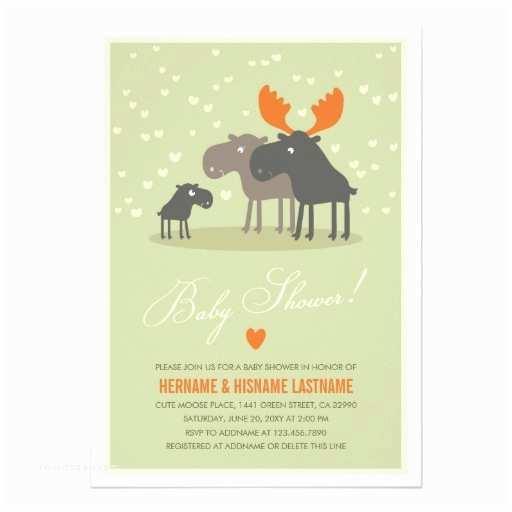 Couple Baby Shower Invitations Moose Deer Family Couples Baby Shower Invitation