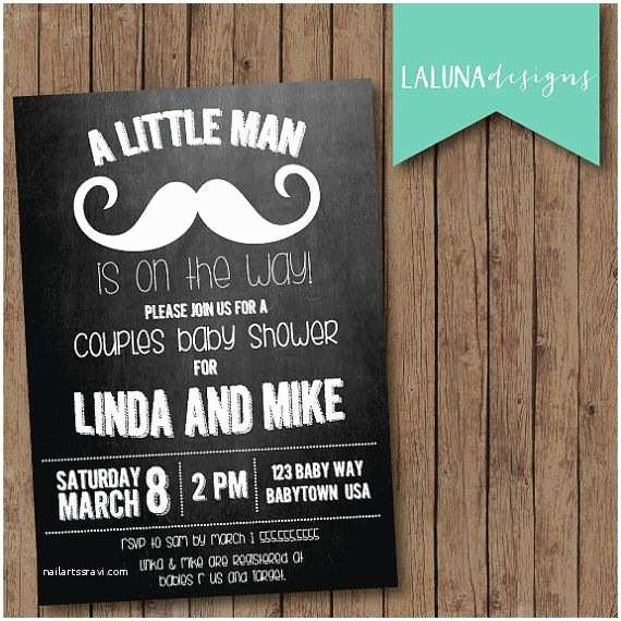 Couple Baby Shower Invitations Mustache Baby Shower Invitation Couples Baby Shower
