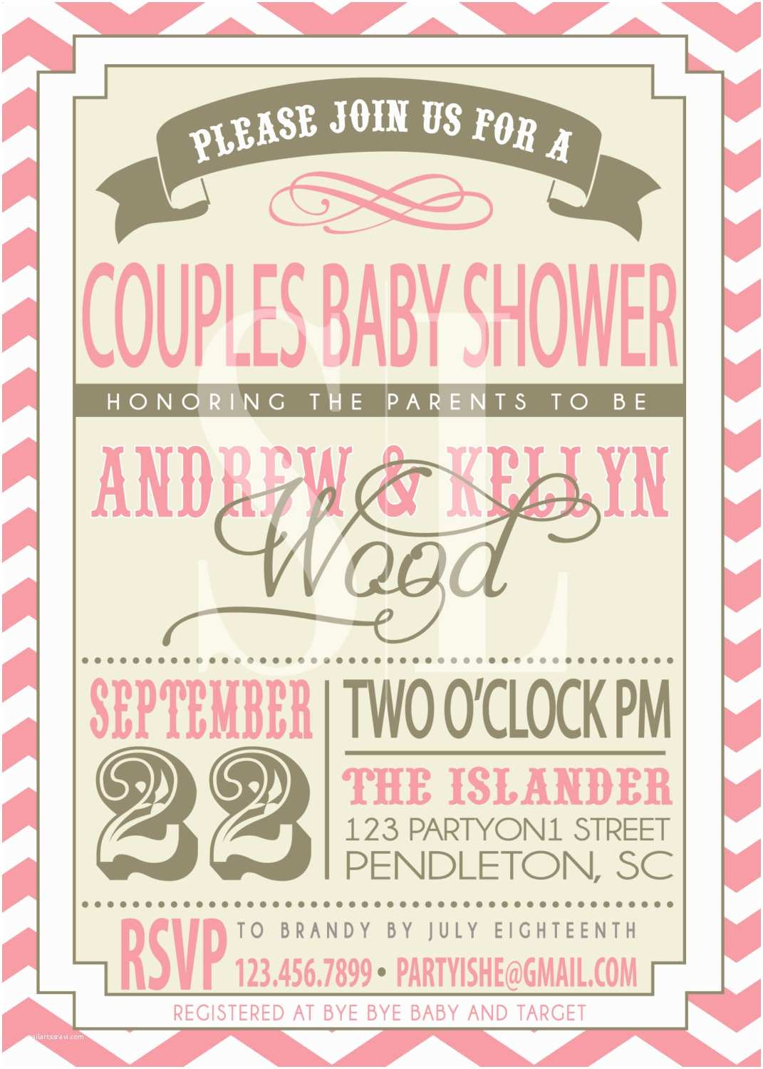 Couple Baby Shower Invitations On Sale Couples Baby Shower Invitation