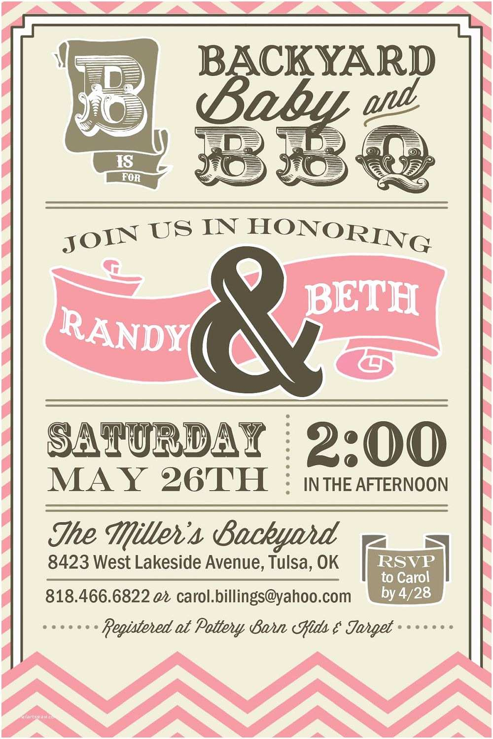 Couple Baby Shower Invitations Printable Couples Bbq Baby Shower Invitation by